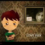 He can not say love her