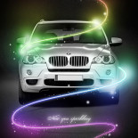 BMW S6 poster