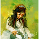 Cô bé và thỏ con
