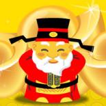 Thiệp chúc mừng năm mới - mini game thần tài tặng vàng