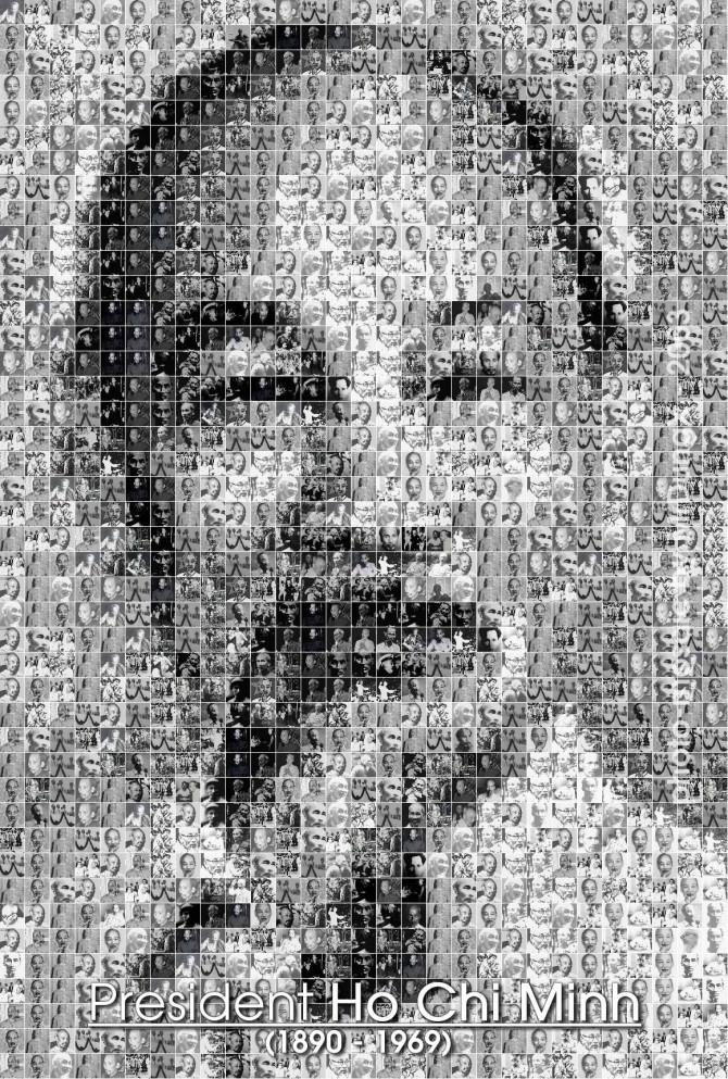 Uncle Ho - photo mosaic