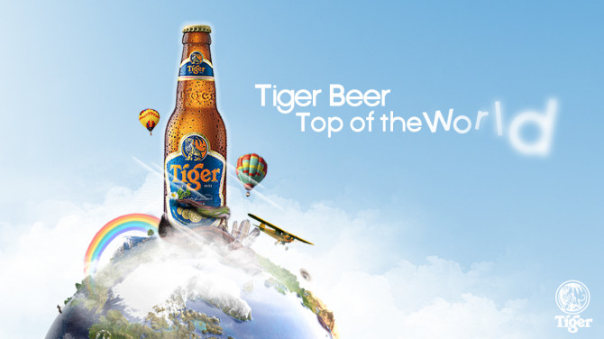 tiger beer- top of the world